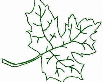340x270 Leaf Outline Etsy