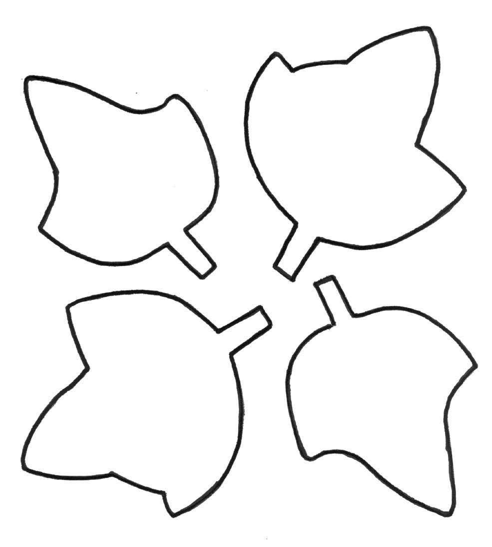 985x1094 Leaf Outline Clipart 4