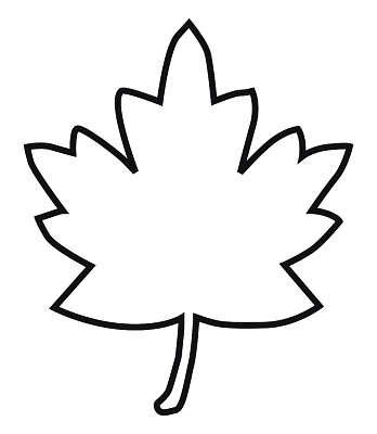 348x400 Maple Leaf Outline Clipart