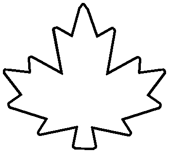 348x314 Maple Leaf Outline Clipart 2