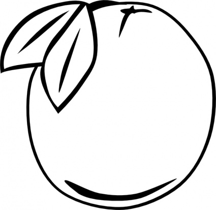 425x413 Fruit Outline Clipart