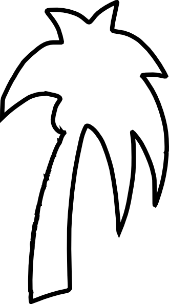 330x594 Palm Tree Outline Clip Art