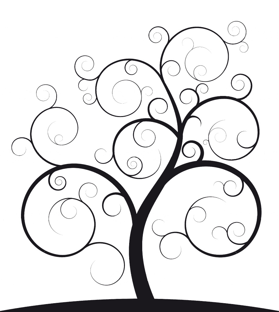 916x1024 Ideal Family Photo Tree Outline With Round Frames In Matte Black