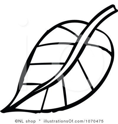 400x420 Leaves Clipart Line Drawing
