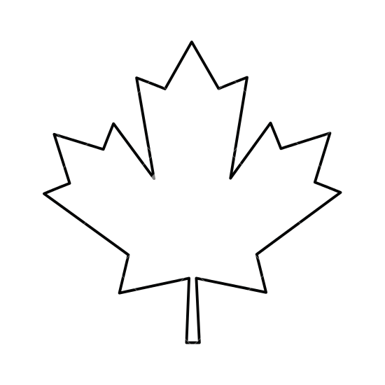 550x550 Maple Leaf Outline Icon