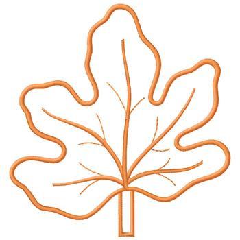 350x350 Orange Leaf Outline Embroidery Design Annthegran