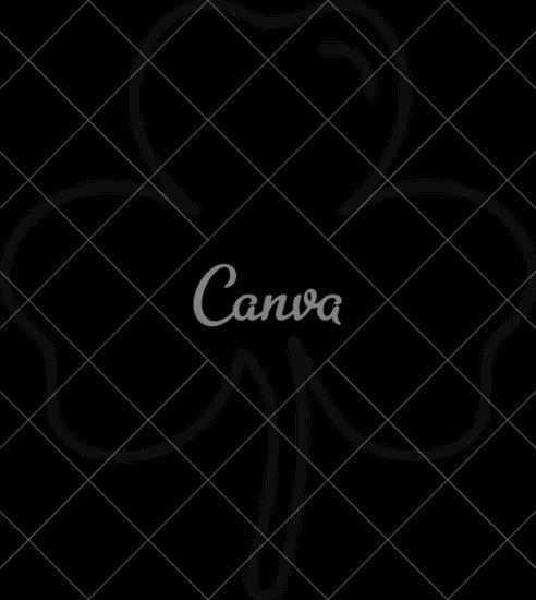 492x550 Shamrock Leaf Outline