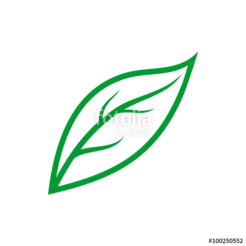 500x500 Simple Leaf Outline Stock Image And Royalty Free Vector Files