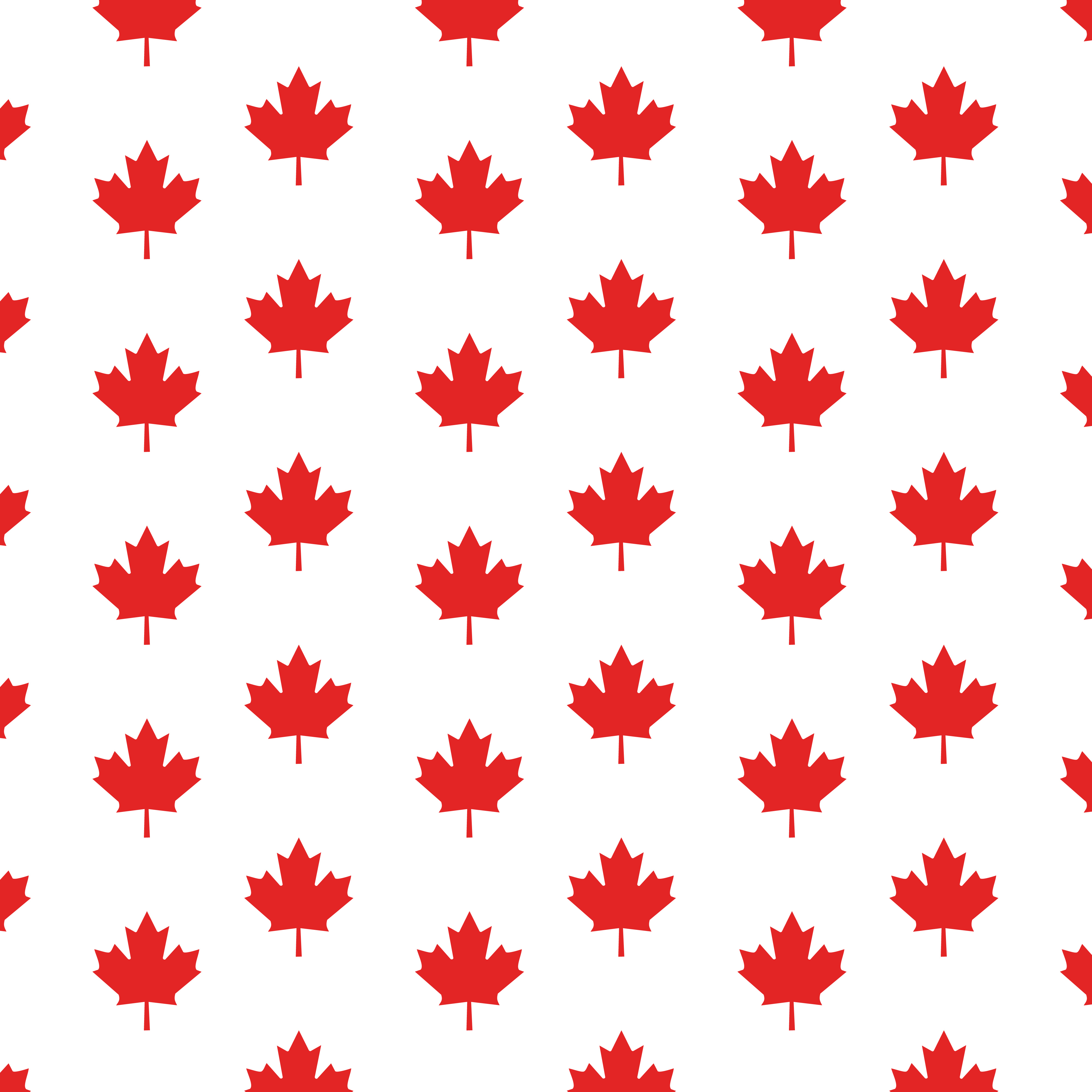 4000x4000 Clipart Of A Canadian Maple Leaf Pattern
