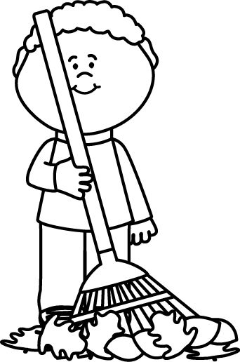 Leaf Raking Clipart