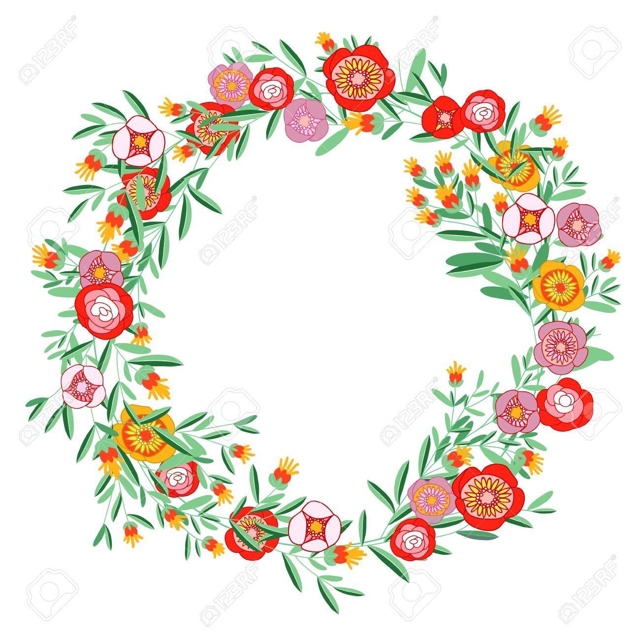 1300x1300 Flower Wreath Clipart