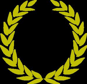 298x285 Laurel Wreath Gold Clip Art