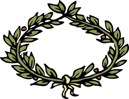 425x326 Olive Wreath Clip Art Vector Clip Art Free Vector Free Download