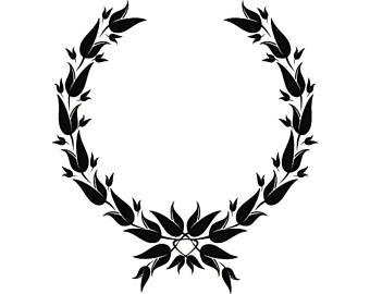 340x270 Olive Wreath Svg Etsy