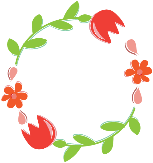 491x523 Wreath Clipart Leaves