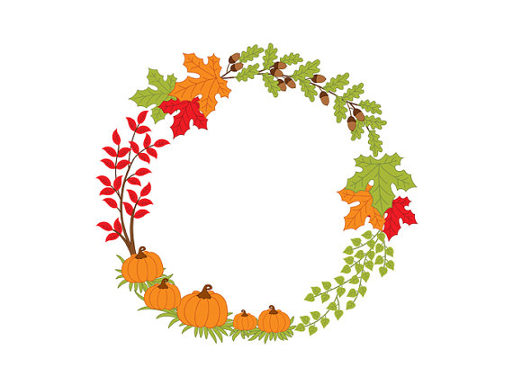 570x428 Autumn Wreath Clipart