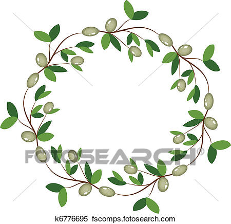 450x436 Clipart Of Olive Wreath K6776695