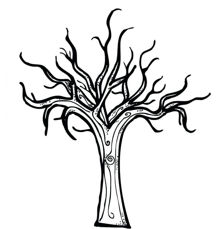 878x898 Free Printable Bare Tree Coloring Pages Murderthestout