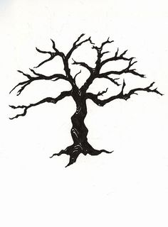 236x320 Leafless Tree Silhouette . To Paint In The Bathroom And Put Hooks