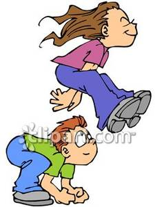 225x300 Boy And A Girl Playing A Game Of Leap Frog