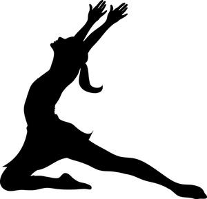 300x289 Gymnastics Silhouette Leap Clipart Panda