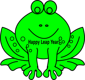 299x282 Leap Year Frog Clip Art