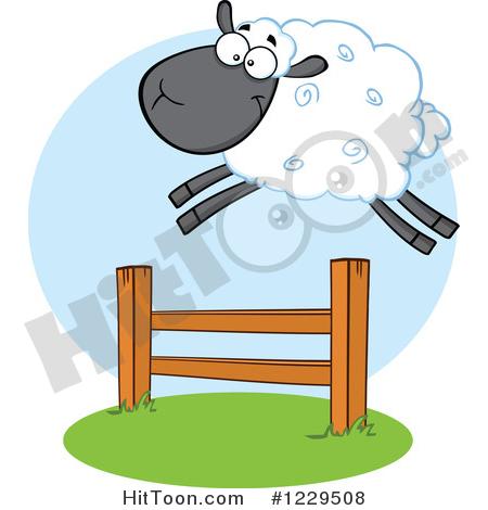 450x470 Sheep Clipart Leap