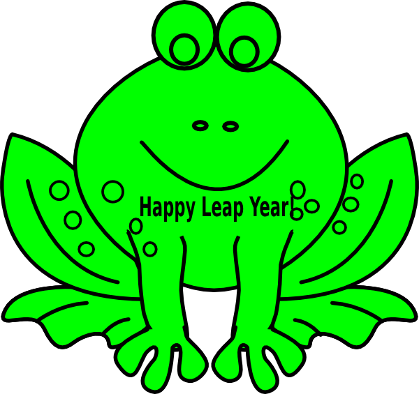 600x565 Leap Year Frog Clip Art