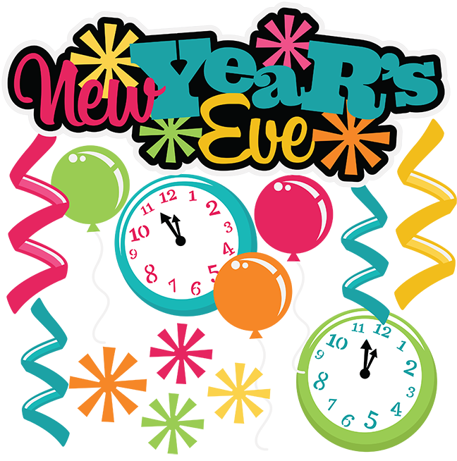 648x654 New year party clipart