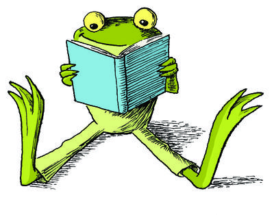 400x314 leap year frog clipart
