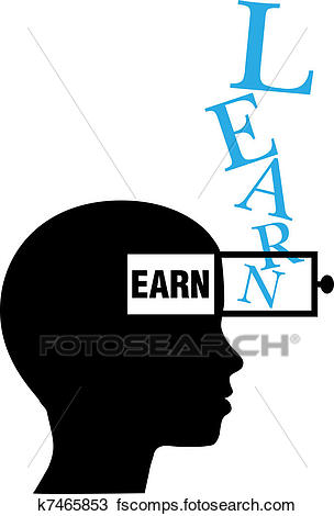 304x470 Clipart Of Person Silhouette Learn To Earn Education K7465853