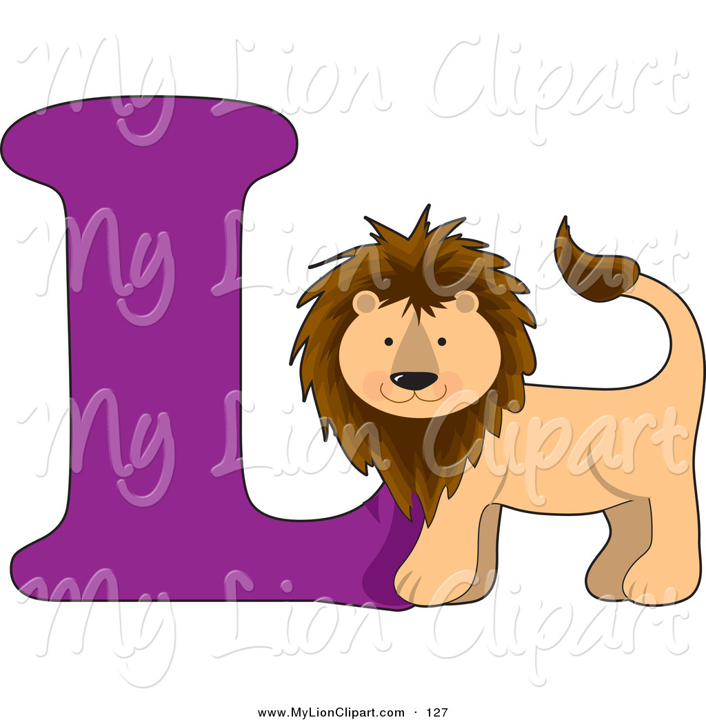 1024x1044 Clipart Of A L Is For Lion With A Purple Learn The Alphabet Scene