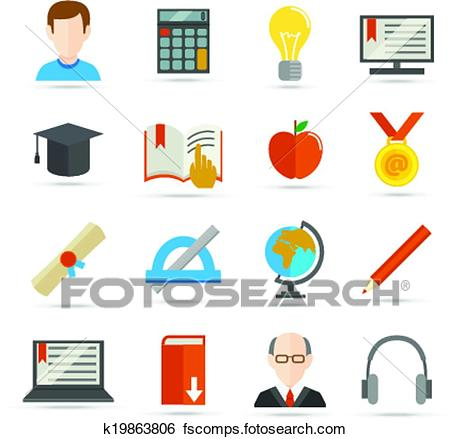 450x439 Clip Art Of E Learning Flat Icon K19863806