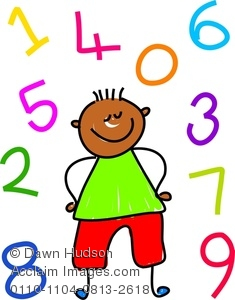 235x300 Image Of A Happy Little Girl Learning To Count