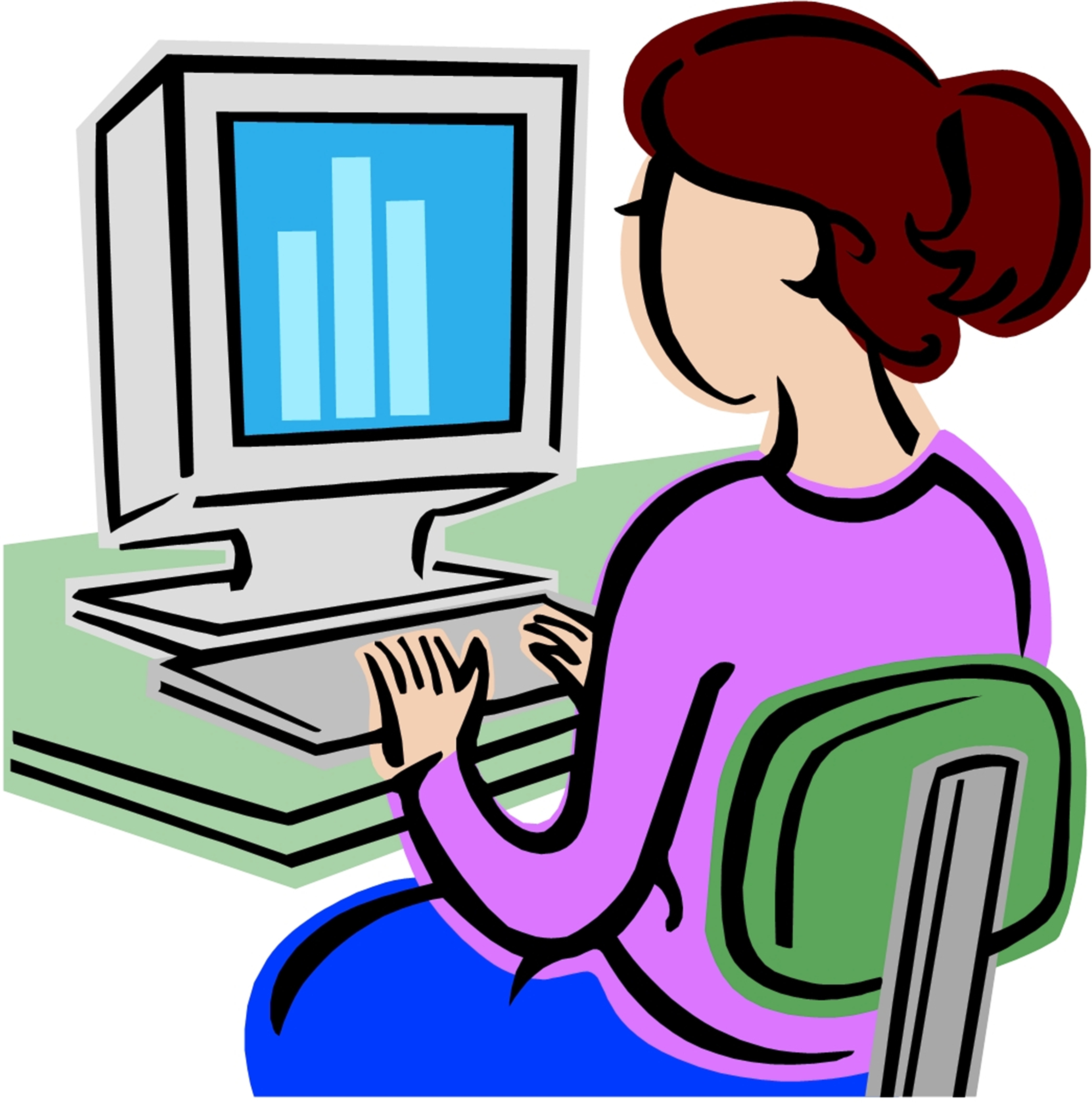 4180x4228 Learning Computer Clipart