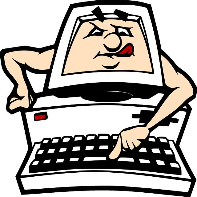 640x639 Computer, Pc, Cartoon, Keyboard, Learning, Clip Art