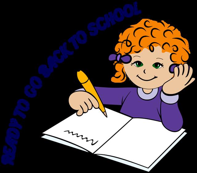 640x563 Children Writing Clipart Free Clip Art