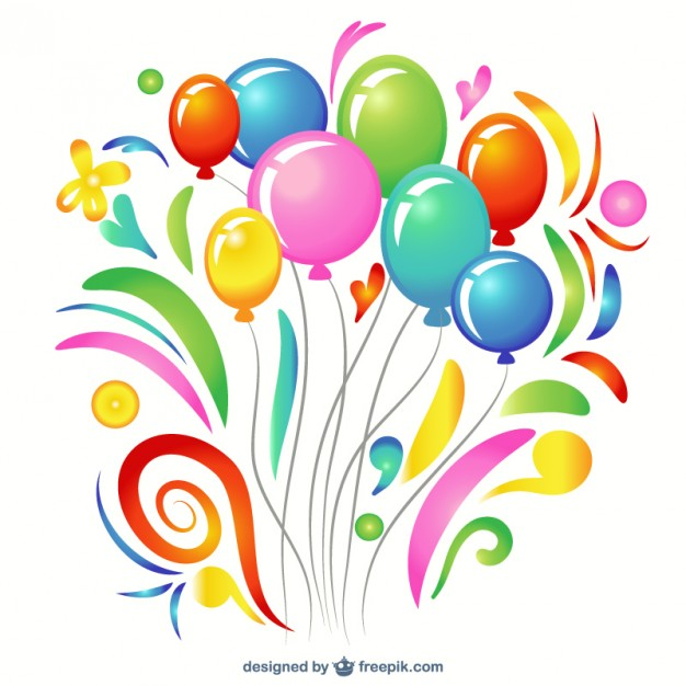 626x626 Balloons Learning Colors Clipart
