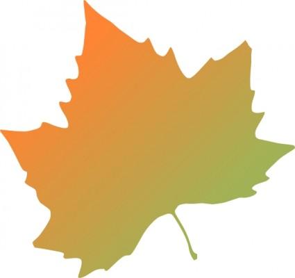 425x400 Single Fall Leaves Clipart