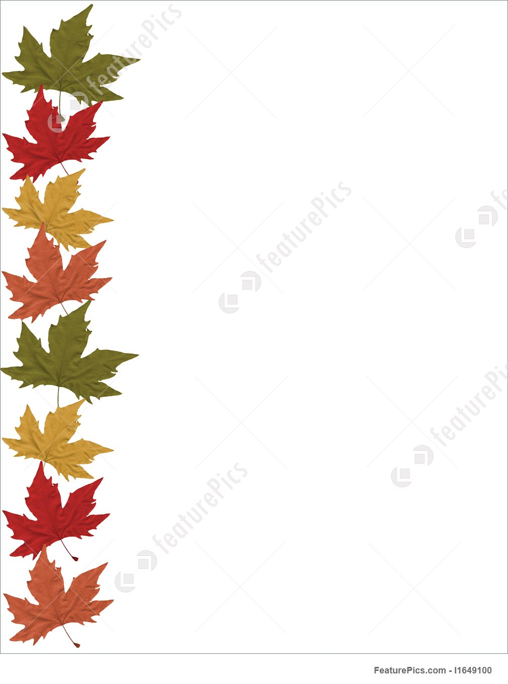 1011x1360 Fall Leaves Border Stock Illustration I1649100