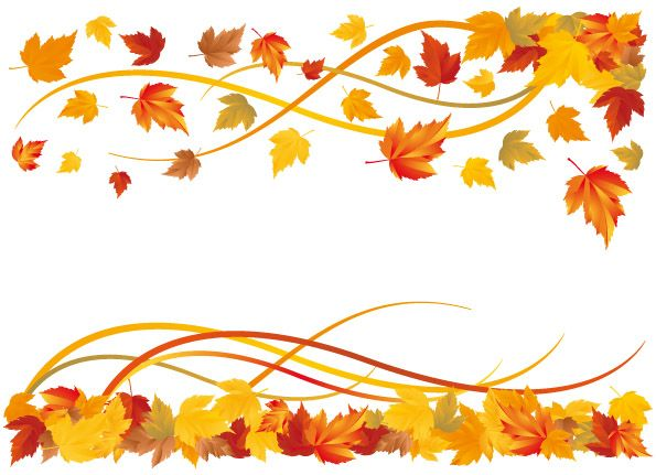 595x431 Free Vector 6 Autumn Maple Leaf Border Vector Fall Leaves