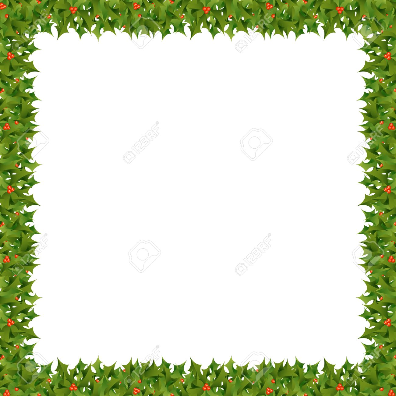 1300x1300 Christmas Leaves Border Theme Gift List Of References Template