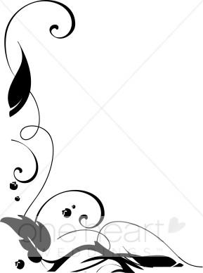289x388 Ivy Leaf Border Clip Art