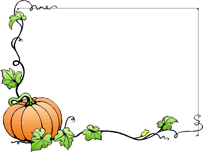 800x600 Pumpkin Clipart Border