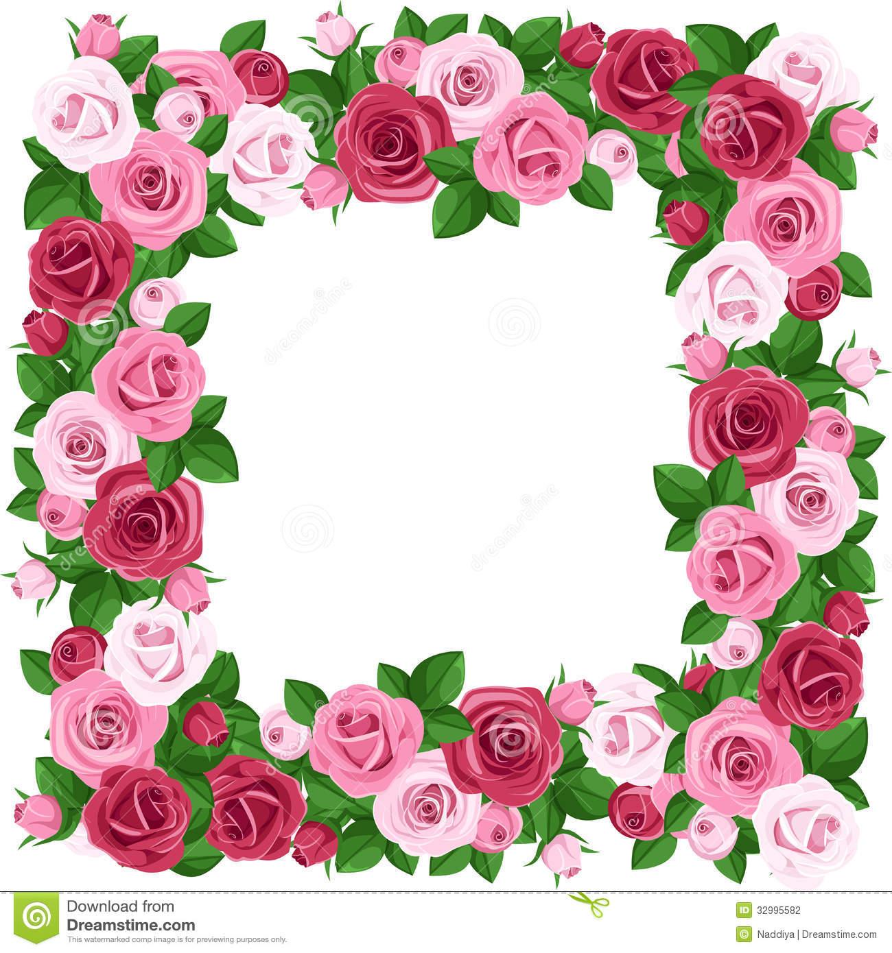 1300x1390 Rose Border Clipart