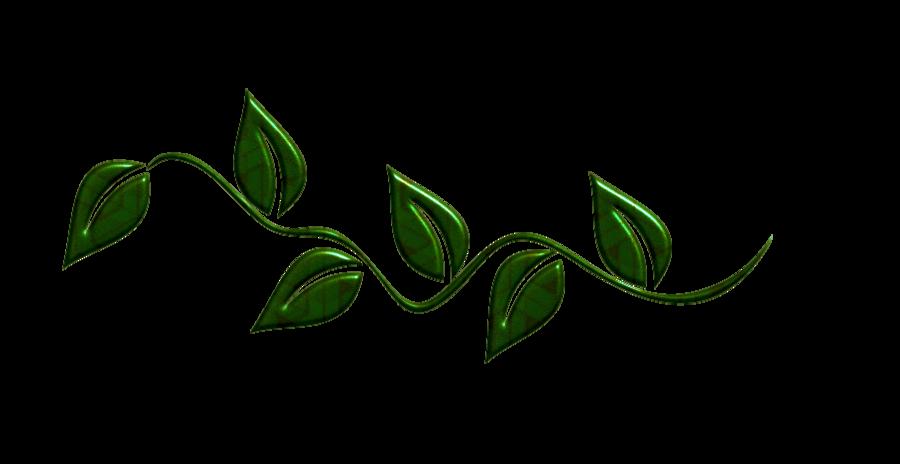 900x464 Green Leaf Border Clipart