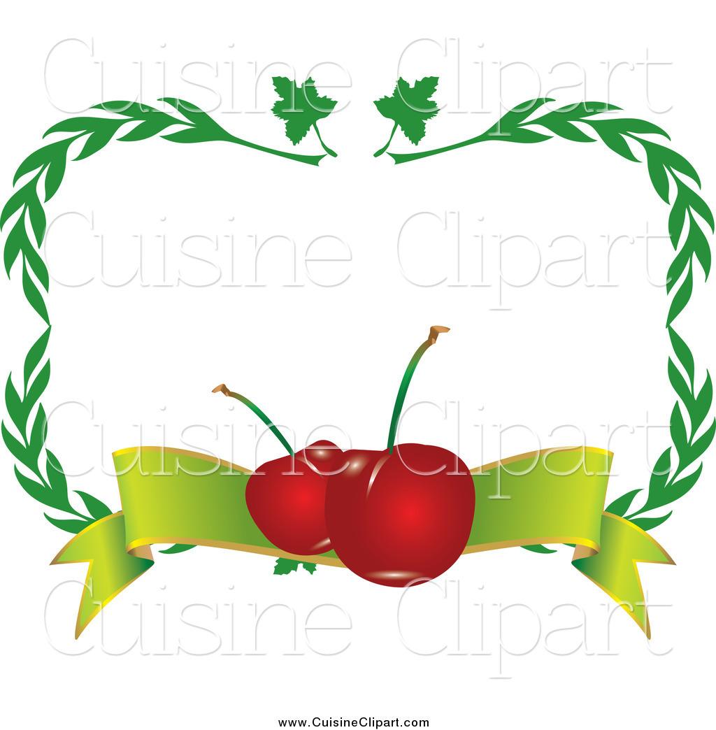 1024x1044 Cuisine Clipart Of Border Of Green Leavesnd Cherries