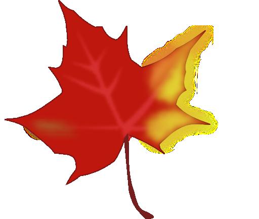 512x433 Autumn Leaves Clip Art
