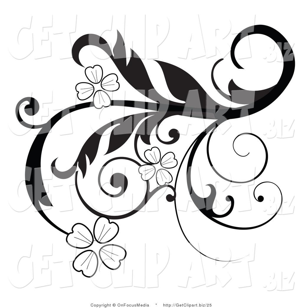 1024x1044 Black And White Flower Border Clipart
