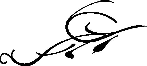 600x271 Black Leaf Swirl Clip Art